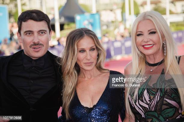 Sarah Jessica Parker Monika Bacardi Andrea Iervolino attend the 'Here And Now' Premiere during the 44th Deauville American Film Festival on September...
