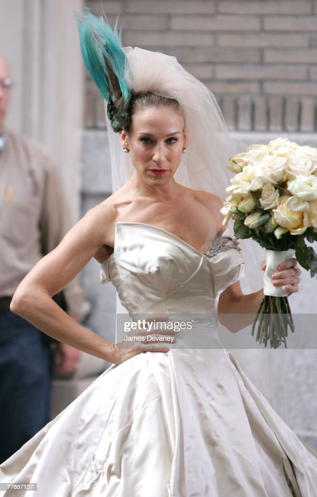 Sarah Jessica Parker on the set of 'Sex and the City: The Movie' on October 2, 2007 in New York City.