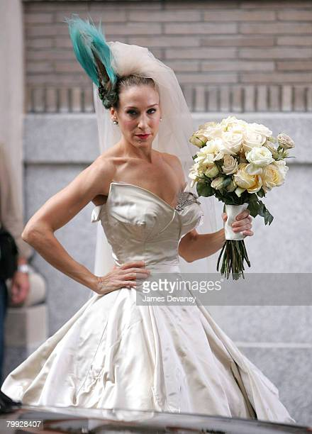 Sarah Jessica Parker on the set of Sex and the City The Movie on October 2 2007 in New York City