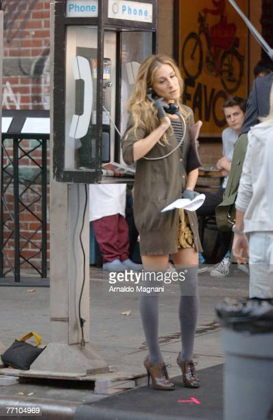 Sarah Jessica Parker on the set of ''Sex and the City The Movie'' on September 28 2007 in New York City