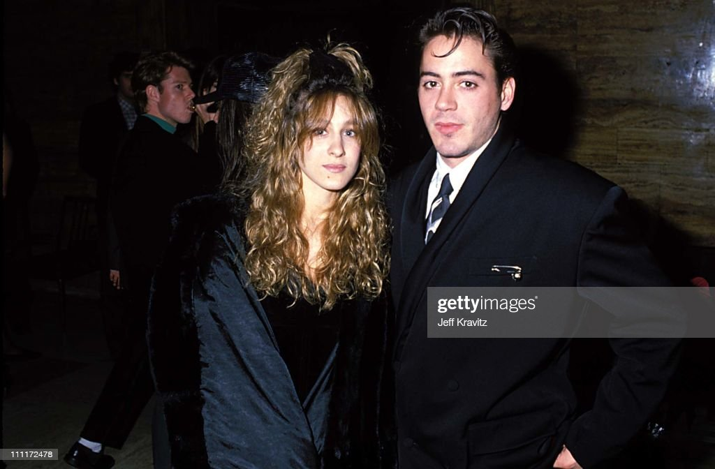 Sarah Jessica Parker & Robert Downey Jr during 1988 Young Artists Unite in Los Angeles, California, United States.