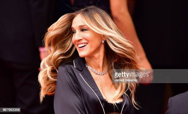 Sarah Jessica Parker seen filming a commercial in Manhattan for Italian lingerie brand Intimissimi on June 5 2018 in New York City