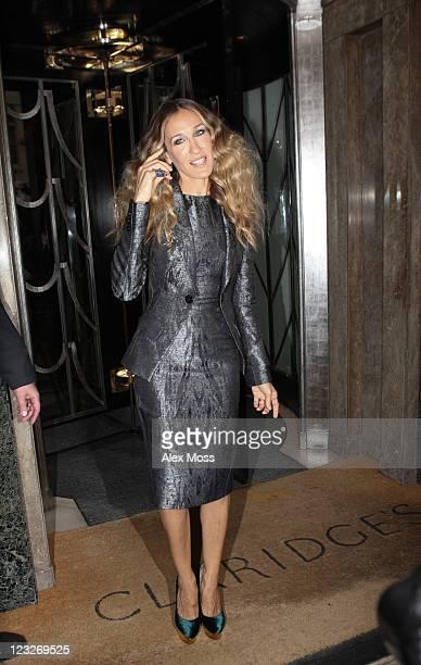 Sarah Jessica Parker Seen leaving Claridges Hotel on September 1 2011 in London England