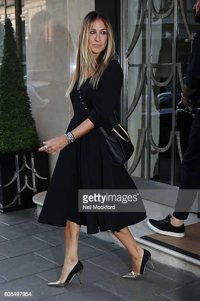 Sarah Jessica Parker seen leaving Claridges Hotel on September 14 2016 in London England