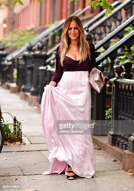 Sarah Jessica Parker seen on the streets of Manhattan on September 20 2016 in New York City