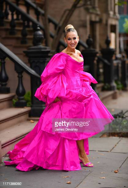 Sarah Jessica Parker seen on the streets of the West Village on September 26, 2019 in New York City.