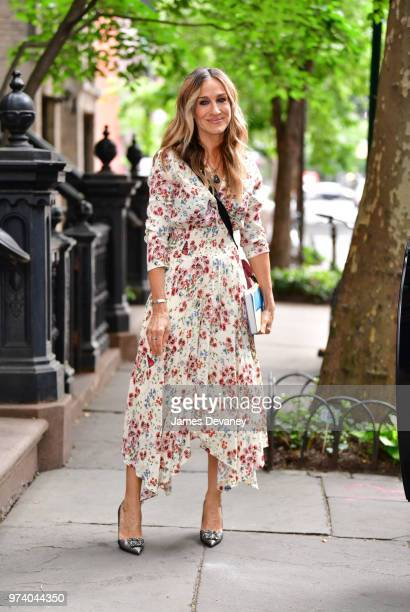 Sarah Jessica Parker seen on the streets of the West Village on June 13 2018 in New York City