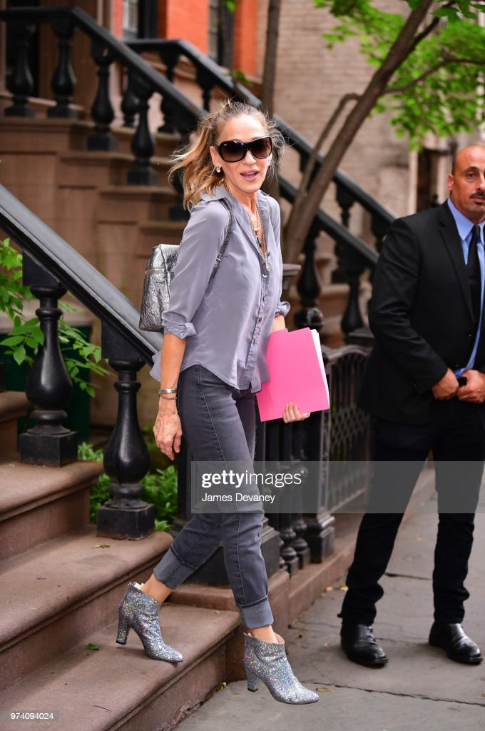 Sarah Jessica Parker seen on the streets of the West Village on June 13, 2018 in New York City.