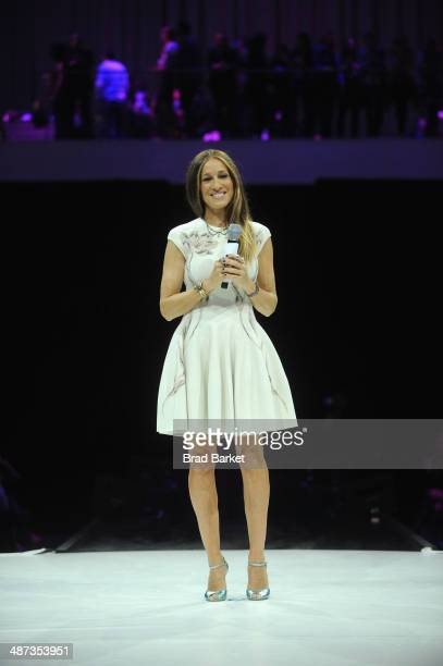Sarah Jessica Parker speaks onstage at the 2014 AOL NewFronts at Duggal Greenhouse on April 29, 2014 in New York, New York.