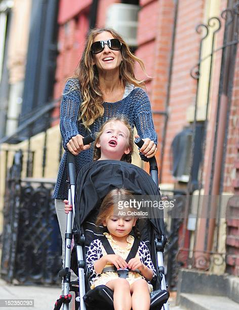 Sarah Jessica Parker, Tabitha Broderick and Marion Broderick are seen in the West Village at Streets of Manhattan on September 19, 2012 in New York...