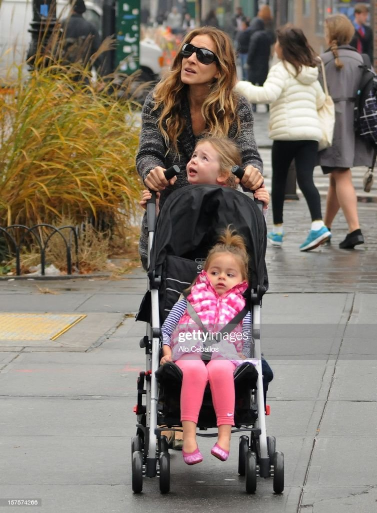 Sarah Jessica Parker, Tabitha Hodge Broderick and Marion Loretta Elwell Broderick are seen in the West Village on December 4, 2012 in New York City.