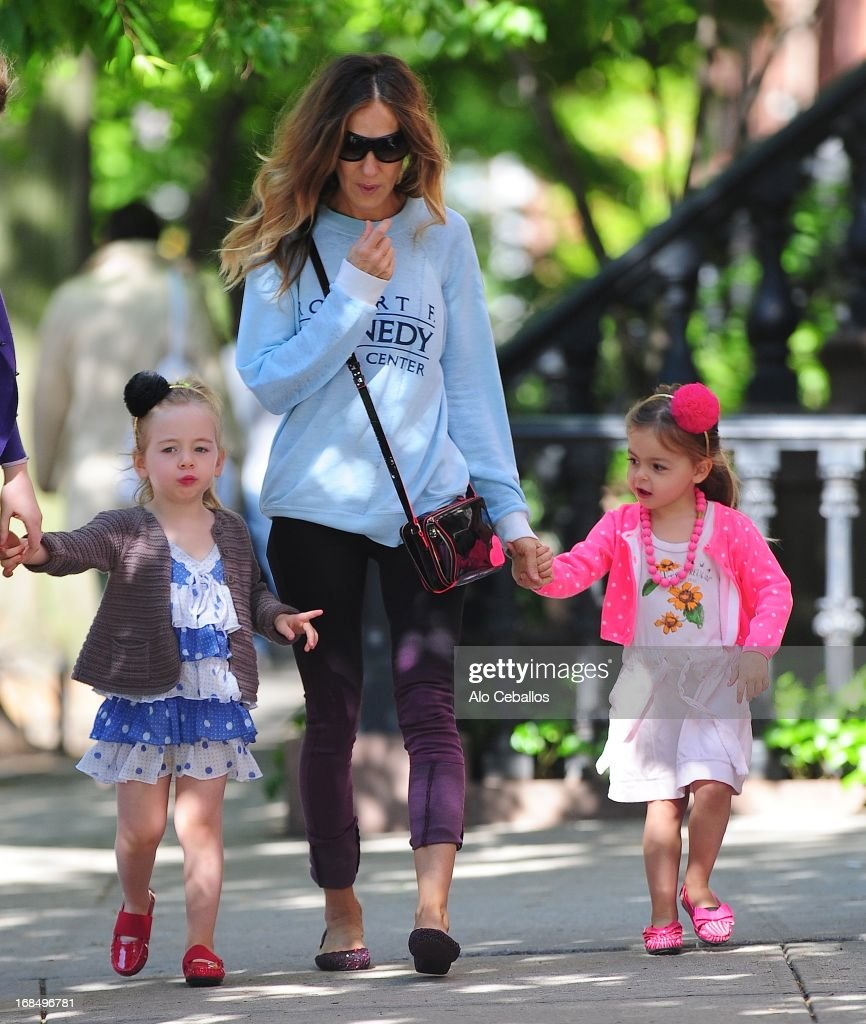 Sarah Jessica Parker, Tabitha Hodge Broderick, Marion Loretta and Elwell Broderick are seen in the West Village on May 10, 2013 in New York City.
