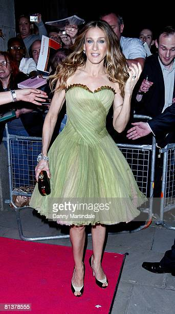 Sarah Jessica Parker ttends the Sex in the City Premiere After Party at Billinsgate on May 12 2008 in London England