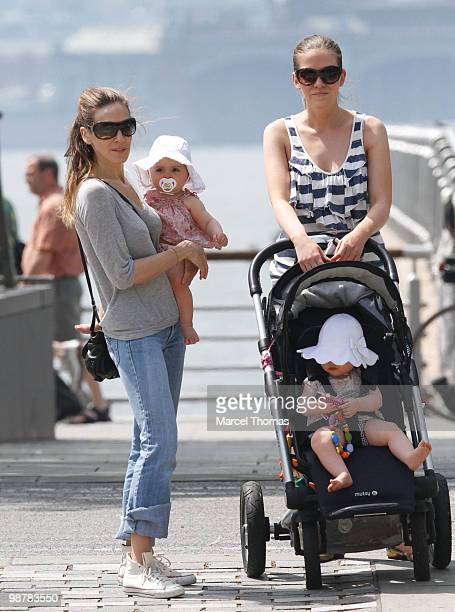 Sarah Jessica Parker twin daughters Marion Broderick and Tabitha Broderick are seen out and about in the west village on May 1 2010 in New York New...