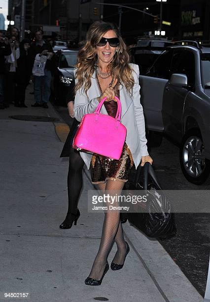 Sarah Jessica Parker visits 'Late Show With David Letterman' at the Ed Sullivan Theater on December 15 2009 in New York City