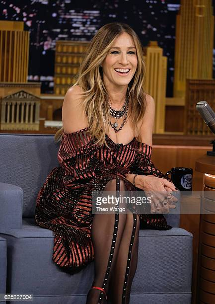 Sarah Jessica Parker Visits 'The Tonight Show Starring Jimmy Fallon' at Rockefeller Center on November 22 2016 in New York City
