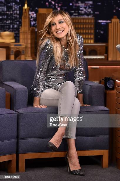 Sarah Jessica Parker Visits 'The Tonight Show Starring Jimmy Fallon' at Rockefeller Center on February 6 2018 in New York City
