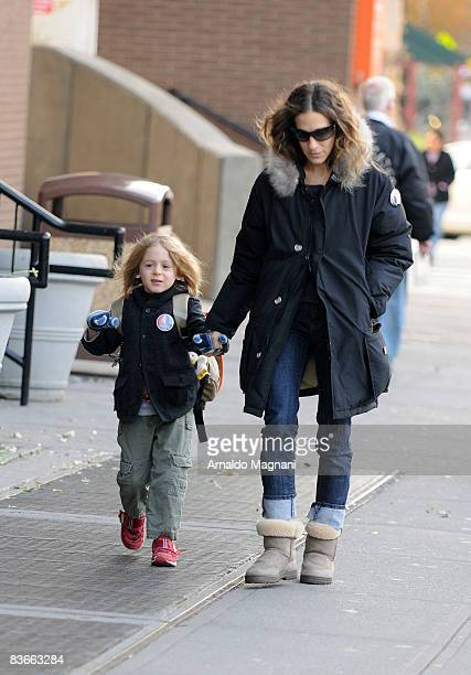 Sarah Jessica Parker walks with her son James November 12 2008 in New York City