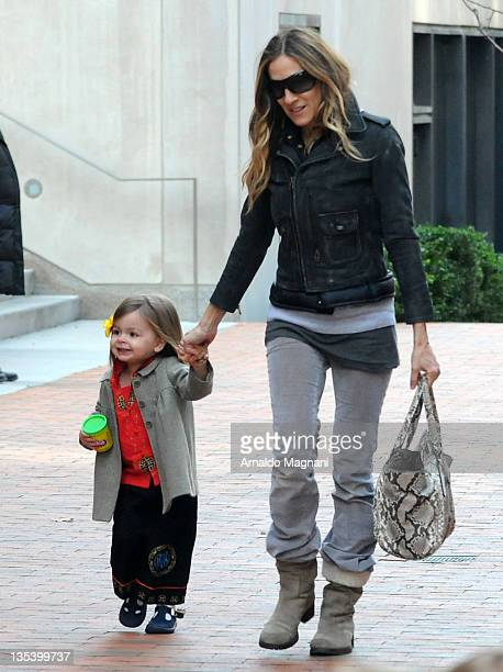 Sarah Jessica Parker with her daughter Marion Broderick on December 9 2011 in New York City