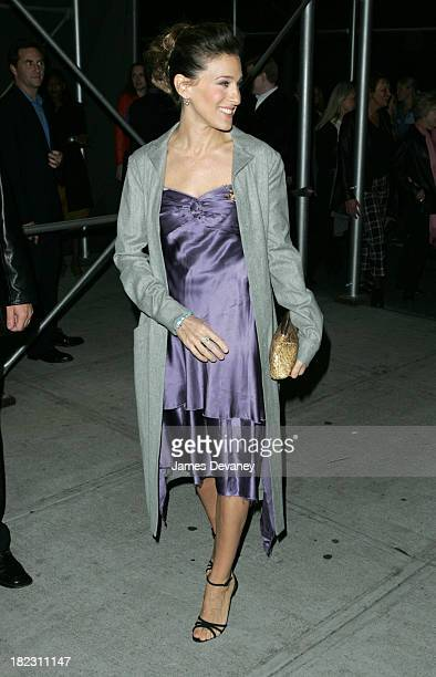 Sarah Jessice Parker during The Foreigner Opening Night Arrivals at Laura Pels Theatre at the Harold and Miriam Steinberg Center in New York City New...