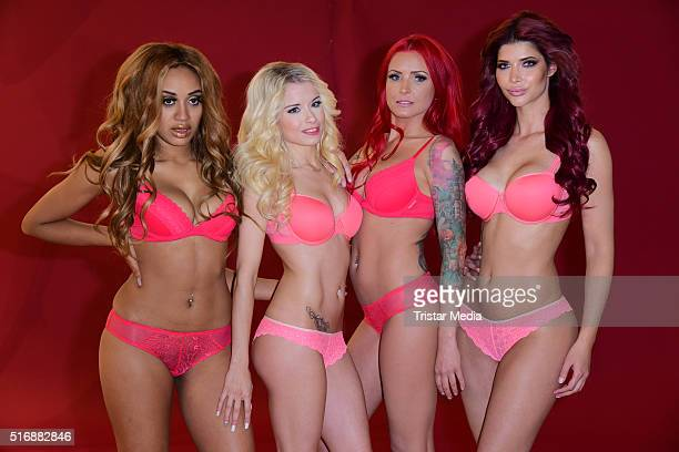 Sarah Joelle Jahnel Mia Julia Brueckner Lexy Roxx and Micaela Schaefer during the Venus Campaign Event on March 21 2016 in Berlin Germany