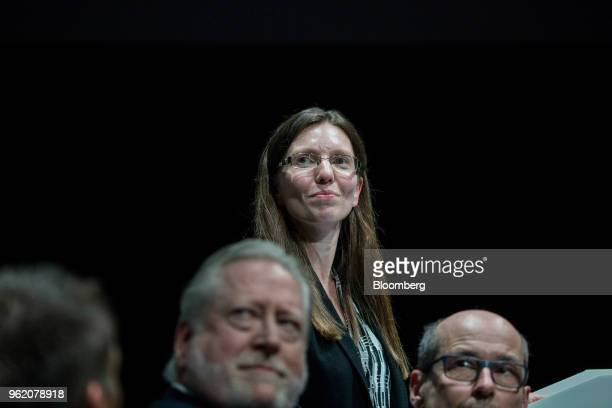Sarah John incoming chief cashier at the Bank of England attends the Bank of England's Markets Forum at Bloomberg's European headquarters in London...