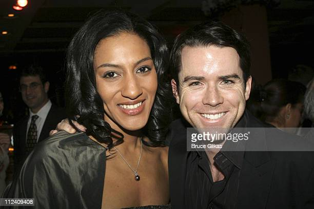 Sarah Jones and Christian Campbell during Sarah Jones' Bridge and Tunnel Broadway Opening Night Curtain Call and Party at The Helen Hayes Theater...