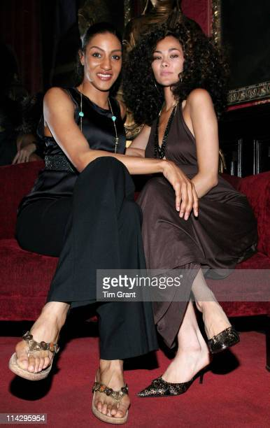 Sarah Jones and Jade during The National Arts Club Honors Lachanze and Tony Winner Sarah Jones at The National Arts Club in New York New York United...