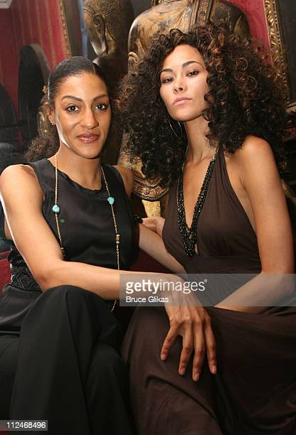 Sarah Jones and Jade of Americas Next Top Model during Ken Sunshine Consultants Celebrate LaChanze and Sarah Jones June 5 2006 at The National Arts...