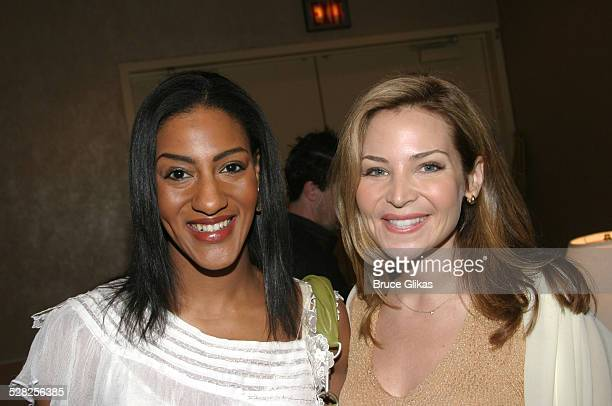 Sarah Jones and Jennifer Westfeldt during Hugh Jackman is Given The Drama League 2004 Distinguished Performance of the Year Award for The Boy From Oz...