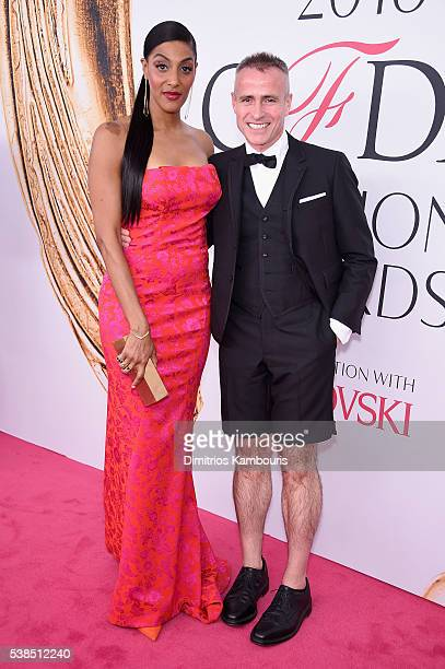 Sarah Jones and Thom Browne attend the 2016 CFDA Fashion Awards at the Hammerstein Ballroom on June 6 2016 in New York City