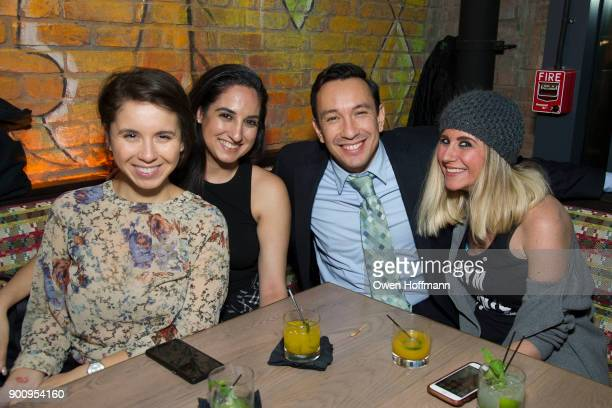 Sarah Jones Annie Quintana James Angarita and Amber Belus attend SUGARCANE raw bar grill Grand Opening in Dumbo at SUGARCANE raw bar grill on...