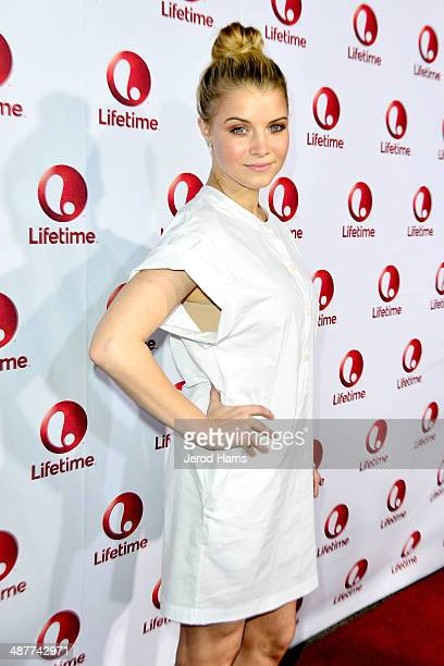 Sarah Jones arrives the Premiere of Lifetime Television's 'Return To Zero' at Paramount Theater on the Paramount Studios lot on May 1 2014 in...
