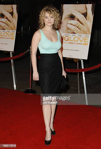 Sarah Jones during HBO Original Series Big Love Premiere Arrivals at Grauman's Chinese Theater in Hollywood California United States