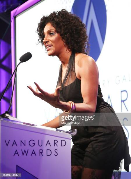 Sarah Jones speaks onstage at the Los Angeles LGBT Center's 49th Anniversary Gala Vanguard Awards at The Beverly Hilton Hotel on September 22 2018 in...