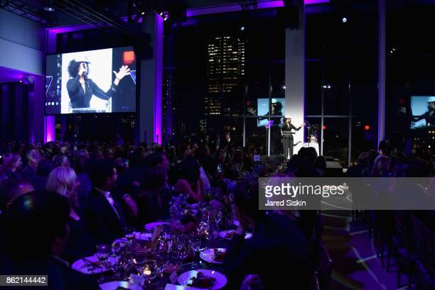Sarah Jones speaks onstage during The 11th Annual Golden Heart Awards benefiting God's Love We Deliver at Spring Studios on October 16 2017 in New...