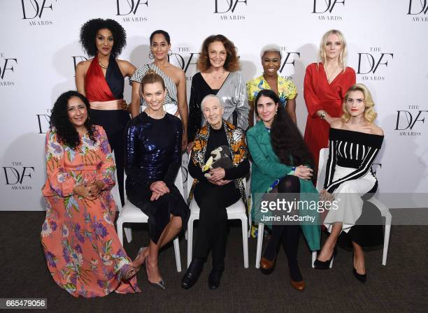 Sarah Jones Tracee Ellis Ross Diane von Furstenberg Cynthia Erivo and Laura Brown Baljeet Sandhu Karlie Kloss Jane Goodall Yoani Sanchez and Allison...