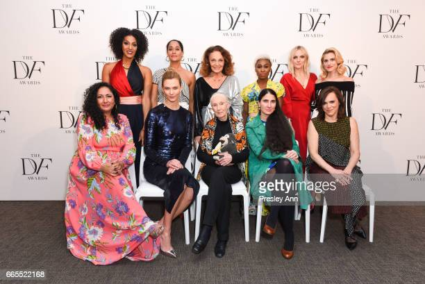 Sarah Jones Tracee Ellis Ross Diane von Furstenberg Cynthia Erivo and Laura Brown Allison Williams Baljeet Sandhu Karlie Kloss Jane Goodall Yoani...