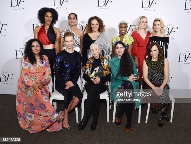Sarah Jones Tracee Ellis Ross Diane von Furstenberg Cynthia Erivo Laura Brown and Allison Williams Baljeet Sandhu Karlie Kloss Jane Goodall Yoani...