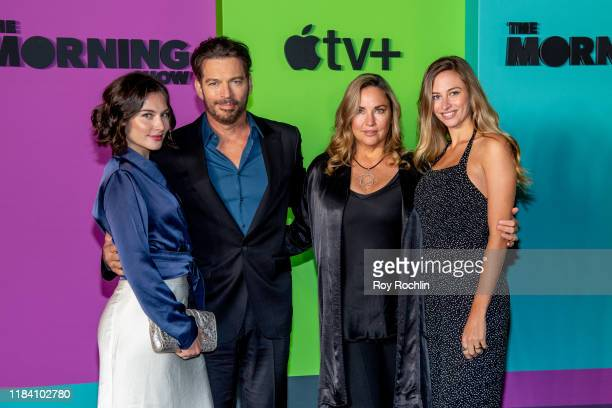 Sarah Kate Connick Harry Connick Jr Jill Goodacre and Georgia Tatum Connick attend Apple TV's The Morning Show world premiere at David Geffen Hall on...