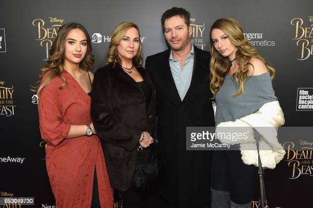 Sarah Kate Connick Jill Goodacre Harry Connick Jr and Georgia Connick arrive at the New York special screening of Disney's liveaction adaptation...
