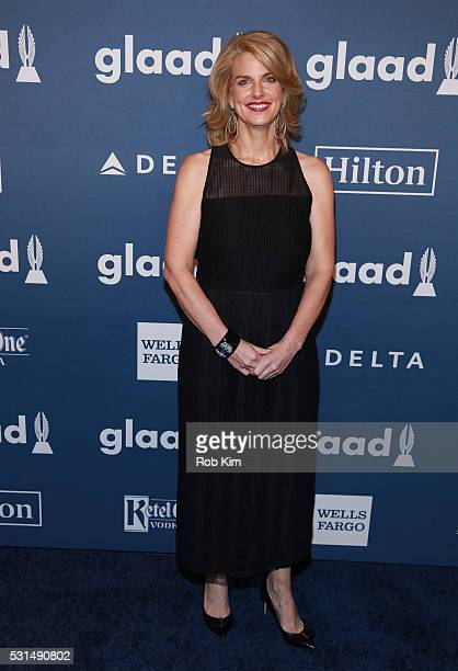Sarah Kate Ellis CEO President of GLAAD arrives for the 27th Annual GLAAD Media Awards at The Waldorf=Astoria on May 14 2016 in New York City