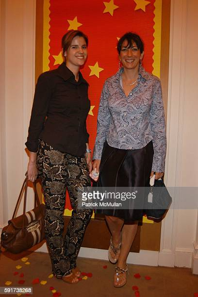 Sarah Kellen and Ghislaine Maxwell attend Madonna Childrens Book Lotsa de Casha published by Callaway Arts and Entertainment at Bergdorf Goodman on...