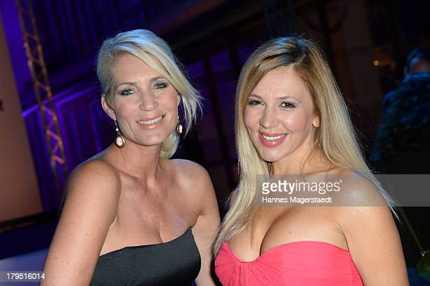 Sarah Kern and Davorka Tovilo attends the Universal Channel launch party at Brienner Forum on September 4 2013 in Munich Germany
