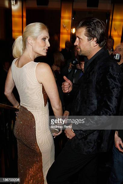 Sarah Kern and Goran Munizaba attend the fashion show 'Gloeoeckler presented by bonprix' collection launch at FELIX club on January 10 2012 in Berlin...