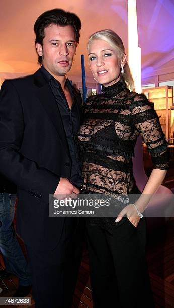 Sarah Kern and her boyfriend Goran Munizaba attends the DTM Come Together party on June 23 2007 in Nuremberg Germany