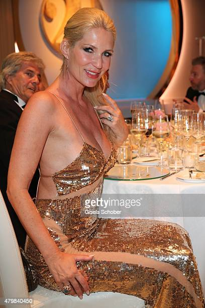 Sarah Kern during the 20 year anniversary event of the home shopping channel HSE24 at Ziegelei on July 7 2015 in Ismaning Germany