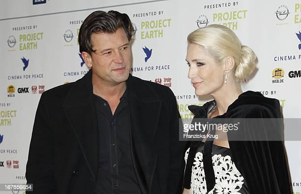 Sarah Kern Und Ex Ehemann Goran Munizaba Bei Der Cinema For Peace Gala Im Rahmen Der 61 Berlinale Im Konzerthaus In Berlin