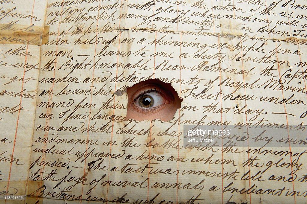 Letter For Auction Describing British triumph At Trafalgar : News Photo