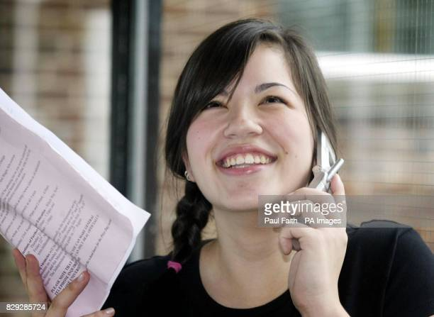 Sarah Kim 18 who received three A grades and a B grade in her Alevel results at Ballyclare High School Co Antrim Northern Ireland's latest Alevel...